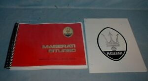 Maserati Biturbo Factory Shop Manual With Update Section Repair Service New