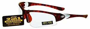 Ssp Eyewear 1 50 Bifocal reader Safety Glasses With Demi Frames And Clear Entiat