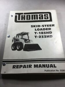 Thomas T 183hd T 233hd Skid Steer Loader Service repair Manual