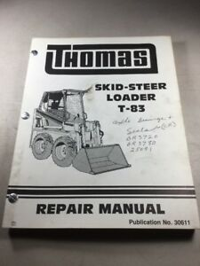 Thomas T 83 Skid Steer Loader Service repair Manual