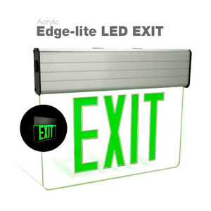 Etoplighting Led Translucent Emergency Exit Light Sign With Green Letters