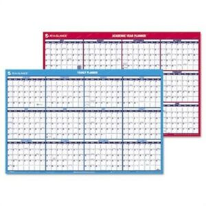 Horizontal Erasable Wall Planner Yearly academic 36 X 24 2013 2014 2014