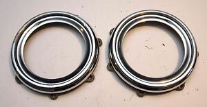 Pair Of Ace Wheel Disk Centers Rolls Royce Bentley Alvis Lagonda Etc
