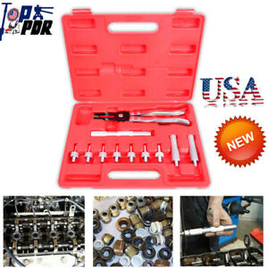 11pcs Valve Stem Seal Removal Installer Kit Tool Remover Pliers Seal Adapters