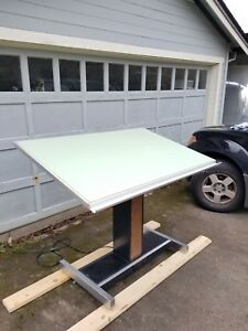 Hamilton Motorized Drafting Table With New Vyco Surface