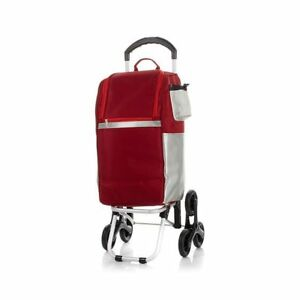 Cooler Bag With Stair climbing Wheel Technology Red