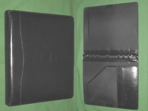 Folio 1 0 Black Leather Day Timer Planner 8 5x11 Binder Monarch Franklin Covey