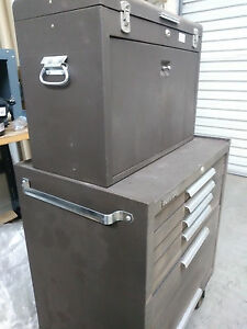 Kennedy 5 Drawer Brown Steel Roller Cabinet Tool Box Tool Chest With Key