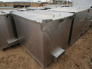 Stainless Steel Tank Square On Skids Approximately 300 Gallons Plus