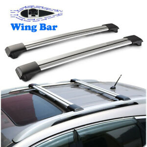 2x 39 Car Cross Bar Top Luggage Roof Rack Cargo Carrier Suv Aluminum Universal