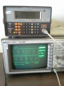 Hp54520a 500 Mhz Digital Storage Oscilloscope Tested Probes Option 001 Software