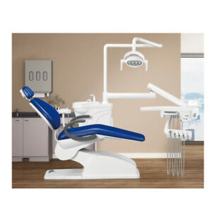 Denfly Dental Chair Unit Df 301c With A Dentist Chair Led Sensor Lamp Double Arm