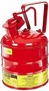 1 Gallon Oil Gas Type Steel Flammables Safety Self Transfer Can 4l Capacity