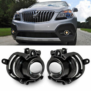 2pcs Left right Black Projector Driving Fog Lights With Bulbs Fit Various Models