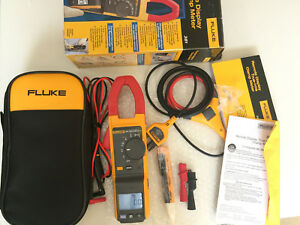New other Fluke 381 True rms Ac dc Clamp Meter With Iflex Nice 224205 And 224206