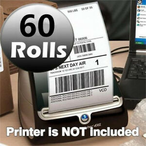 60 Rolls Of 220 Thermal Shipping Labels 4x6 1744907 Compatible Dymo 4xl Printer