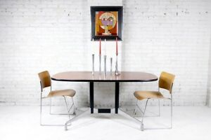 Mid Century Modern Herman Miller Oval Conference Table Dining Table