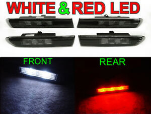 4 Pieces Front White Rear Red Led Smoke Side Marker Light For 2004 08 Acura Tl
