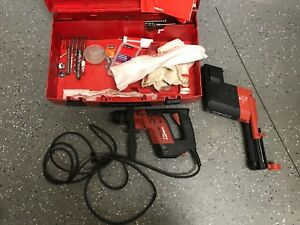 Hilti Rotary Hammer Te 5 Corded Electric Drill And Te5 Drs W case