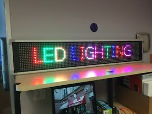 Led Full Color Message Board 23 X 104