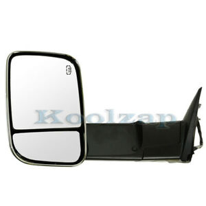 Kv Manual Rear View Door Mirror W Glass Housing Left Driver Side