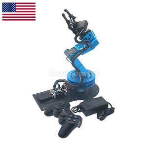 Learm Unassembled Mechnical Robotic Arm W 6pcs Servos ps2 Handle Control Us