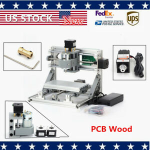Mini Mill Engraving Machine Usb Router Cnc 1610 500mw Laser Pcb Wood Carving Us