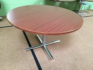 Heavy Duty 48 W Commercial Round Restaurant Tables W Chrome Bases