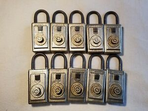 10 Vintage Supra c Combination Lock Boxes With Combinations Free Shipping