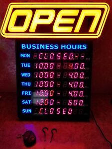 Green Light Innovations Led Horizontal Spectrum Business Hours Open Sign
