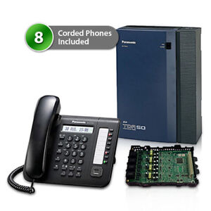 Panasonic Kx tda50g dt521 Hybrid Ip Pbx Telephone System And 8 Digital Phones