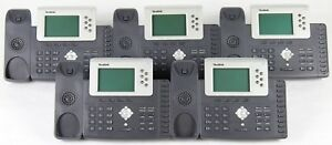 Lot Of 5 Yealink Sip t28p Voip Ip Office Phones