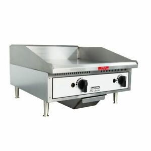 Toastmaster Tmgm24 24 Countertop Gas Griddle Flat Top Grill Nat Or Lp Gas