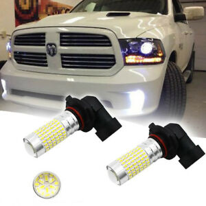2x White 144 Smd Led Upgrade Fog Lights For 2003 2018 Dodge Ram 1500 2500 3500