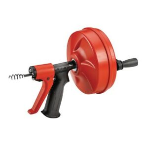 1 4 Inch X 24 Ft Power Spin Plus Hand Grip Plumbing Opener Unclog Tubs Showers