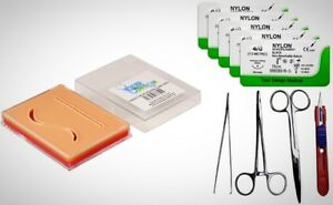 Your Design Medical Suture Pad Practice Combo Kit 3 Layer Pocket Pad Tools Nylon