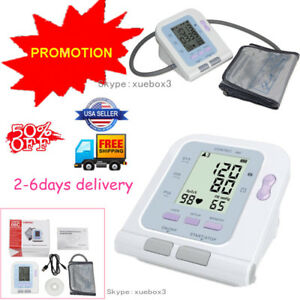 Lcd Digital Blood Pressure Monitor Heart Rate Beat Pulse Meter Measure promotion