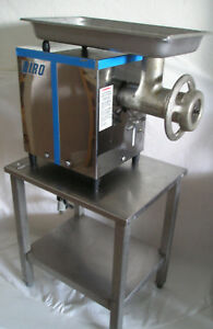 Biro 822 Tabletop Meat Grinder 1hp 1ph 22 Knife plates Stainless Steel Table
