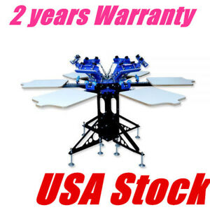 Usa 6 Color 6 Station Silk Screen Printing Machine Screen Printing Equipment