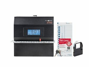 Pyramid 3700 Heavy Duty Steel Time Clock And Document Stamp Made In The New