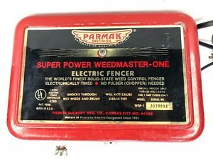 Parmak Precision Electric Fencer Super Power Weedmaster one Weed Control Fence