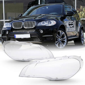 extra Clear heavy Duty 07 12 Bmw E70 X5 Replacement Headlight Lamp Cover Lens