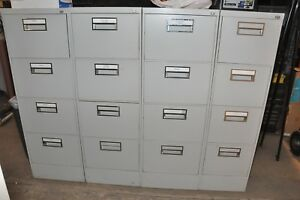 Steelcase 4 Drawer Vertical Locking Legal File Cabinets 28 Deep Drawers W keys
