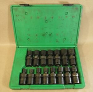 Sk Hand Tools 34350 15 piece 1 2 inch Drive 6 Point Swivel Metric Impact Socket