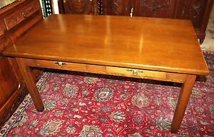 American Antique Arts Crafts Light Oak Desk Writing Table W 2 Storage Drawers