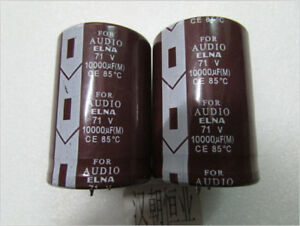 2pcs Japan Elna 71v 10000uf For Audio Electrolytic Capacitors Ce 85 g5168 Xh