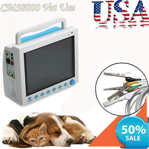 Veterinary Monitor For Cat Dog Animals cms8000 vet Ecg resp spo2 pr nibp temp