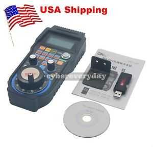 Cnc Mach3 Wireless Electronic Handwheel 4 axis Manual Controller Usb Handle Usa
