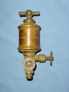 Lunkenheimer 2 Brass Hit Miss Gas Steam Engine Cylinder Oiler