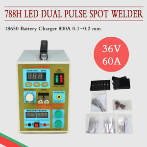 110v 788h Led Dual Pulse Spot Welder Battery Charger 800a 0 1 0 2mm High Quality